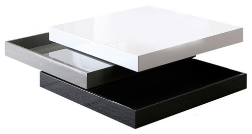 Meja Tamu Minimalis Modern Putih Glossy - Coffee Table