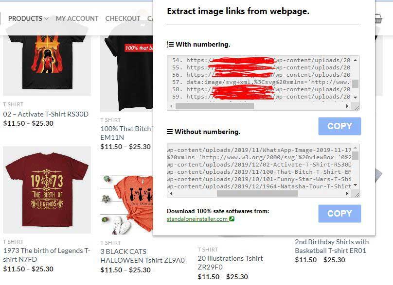 Simpan Link Gambar Menggunakan Extension Image Link Grabber