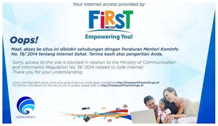 website diblokir kominfo